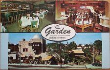 Miami, FL 1950s Restaurant Advertising Postcard: The Garden - 8th Street-Florida