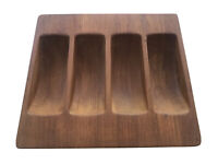 Vintage MCM Dansk IHQ Denmark 4 Section Teak Wood Tray Server Mid Century Modern