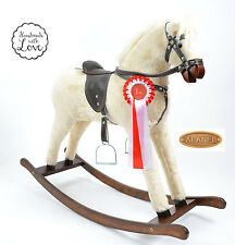 Large Beautiful Handmade Rocking Horse SUNNY MADE IN EUROPE from ALANEL SALE..