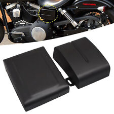 Black Battery Side Cover For Harley Dyna Low Rider Fat Bob Super Glide 2006-2017