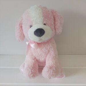 "Gund My First Puppy Pink Plush 12"" Soft Toy Stuffed Puppy Dog With Satin Paws"