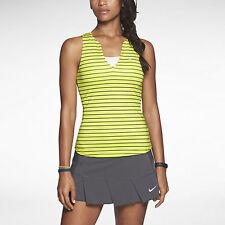 Nike Women's Stripe Pure Tennis Tank Top XS Volt Green Gym Casual New