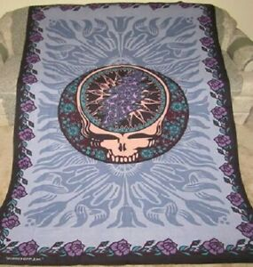 New Blue Gray Grateful Dead Tapestry Bedspread Wall Decor Gift Steal Your Face