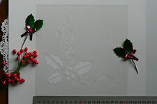Stencil HOLLY FILLIGREE Corner with BERRIES 180x160mm C90 Christmas CollectionL1