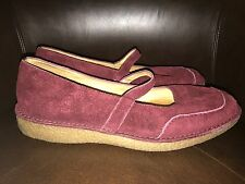 Rockport Women's 8 Mary Jane Suede Burgundy Shoes