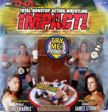 "NEW TNA IMPACT 2005 MARVEL TOYS ""CHRIS HARRIS & JAMES STORM"" WRESTLING FIGURES"