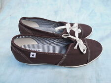 NEW Woman's CONVERSE One Star Wedge Heel Slip On Shoes Sz 10 Brown, Free S/H