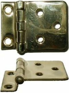 HOOSIER SELLERS BOONE  POLISHED BRASS HINGE B1559
