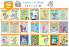 ELEPHANT and PIGGIE Complete Set 1-25  MO WILLEMS 21 Book Set (with one 5 in 1)
