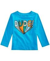 First Impressions Baby Boys Dude Graphic Long Sleeve Cotton T-Shirt