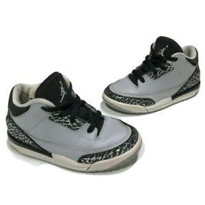 Nike Air Jordan 3 Retro BT 832033-004 Wolf Grey US Toddler Size 9C CLEAN
