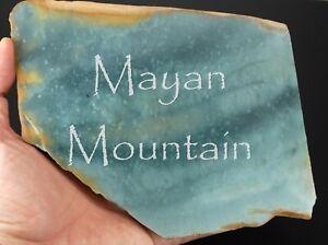 LARGE BANGLE SLAB OF GUATEMALAN BLUE JADEITE JADE ROUGH MAYAN MOUNTAIN GUATEMALA