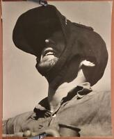 WWII ORIGINAL Coast Guard Press Wire Photo GI Foul Weather Hat Baseball Cap