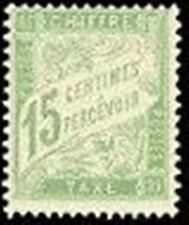 "FRANCE STAMP TIMBRE TAXE N° 30 "" TYPE DUVAL 15c VERT-JAUNE "" NEUF xx LUXE V141"