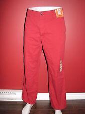 DOCKERS Men's Red Off The Clock Straight Khaki Pants - Size 34W x 30L - NWT $58