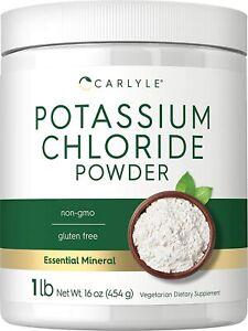Potassium Chloride Powder Supplement   16 oz   KCL Salt Substitute   By Carlyle