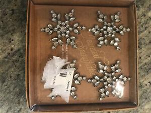 JulyLab Silver Crystal Napkin Rings Gem Pearl Snowflake Serviette Buckle Holder Sparkle Table Dinning Set for Wedding Holiday Party Banquet Everyday Use Set of 12 Crystal Snowflake Set of 12