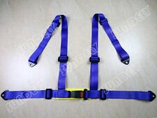 New 3 4 Point 4PT H-Style Car Safety Harness Racing Seat Belt Stitches Blue
