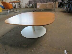 VINTAGE DANISH  DESIGNER LARGE COFFEE TABLE BY FRITZ HANSEN ON METAL BASE 900MM