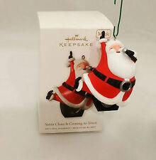 Hallmark Magic Ornament 2010 Santa Claus is Coming to Town - #QXG3056-SDB