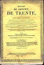 Histoire du concile de Trente  Pallavicini Migne TOME 3 non coupé 1845