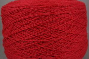 "2/13NM ""4ply"" wt lambswool yarn, 150g cone, 1,040yds, bullseye"
