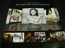 Beyonce Sasha Fierce othes Make Music You Love 2008 Promo Display Ad mint cond.