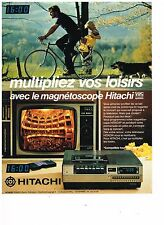 PUBLICITE ADVERTISING 054 1980  HITACHI   magnétoscope  VHS