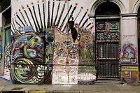 Street art print satin photo painting canvas graffiti south america 70cm x 50cm