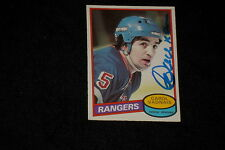 CAROL VADNAIS 1980-81 0-PEE-CHEE SIGNED AUTOGRAPHED CARD #57 RANGERS