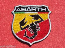 FIAT ARBARTH SCORPION BLACK SHIELD SEW/IRON ON PATCH