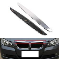 L+R For BMW  06-08 E90 E91 325i 330i 328i Chrome Hood Trim Above Kidney Grille