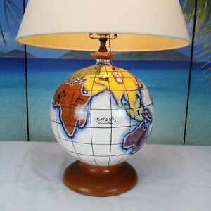Vintage Zaccagnini World Globe Lamp | Made in Italy | No Reserve