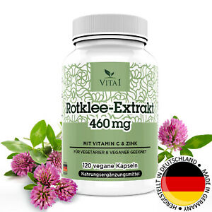 Rotklee Extrakt 120 Kapseln Wechseljahre Tabletten hochdosiert 460mg MenoVital