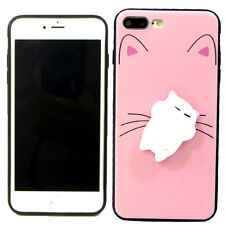 Custodia TPU flessibile GATTO 3D SQUISHY anti stress Apple iPhone 7 Plus 5.5""
