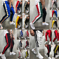 Men Color Block Jogger Sports Pants Casual Hip Hop Bottoms Casual Sweat Trousers