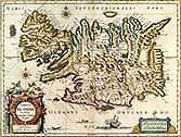 MAP 1630 ISLANDIA BLAEU MAP NEW FINE ART PRINT POSTER CC2500