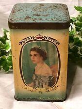 Vintage Queen Elizabeth II June 1953 Commemorative Souvenir Coronation Tin