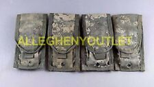 Lot of 4 - US Army ACU Double Mag Pouch, Double Magazine MOLLE Good Condition