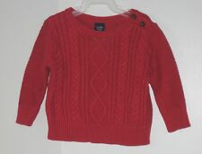 babyGAP Girls Size 6-12 Months Red Cable Knit Pullover Sweater