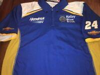 Medium Chase Elliott Pit Crew Shirt KBB Kelley Blue Book Team Issue Hendrick