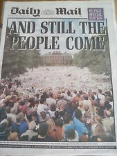 1997 Diana Princess of Wales Funeral Flowers Daily Mail Sept 8th 1997 Unfolded