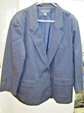 """Ladies """"Herman Geist"""" 1 Button Jacket, Fully Lined Navy Blue Size 20"""