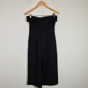 New Look womens jumpsuit size 10 strapless black zip closure