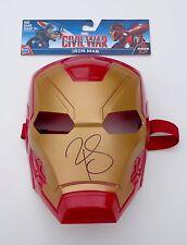 Robert Downey Jr. Signed Iron Man - Captain America Civil War Toy Mask COA