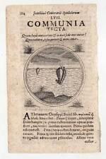 COMMUNIA TECTA - Emblemata-Kupferstich N. Pecoul 1702 Meerestiere