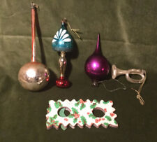 Selection of Vintage Christmas Tree Baubles. Early 1900s.