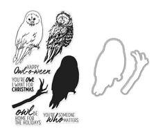 "Hero Arts Color Layering ""OWL"" Clear Stamp & Frame Cuts Die Bundle Winter 2018"