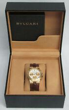BULGARI 18K GOLD 35mm DIAGONO CHRONOGRAPH WATCH BOX & PAPERS D 3215 CH 35 G