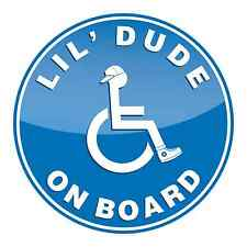 Lil Dude On Board Car Window Sticker Disabled Child Safety Adhesive Decal
